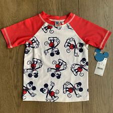 Nwt Disney X Junk food Mickey Mouse Rashguard Spf 50 3T