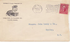 POSTAL HISTORY ADVERTISING CC GOOD-WILL SOAP GEO E MARSH CO LYNN, MA 1903 TO NH
