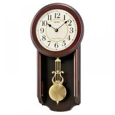 Seiko Wooden Chiming Wall Clock With Pendulum QXH063B