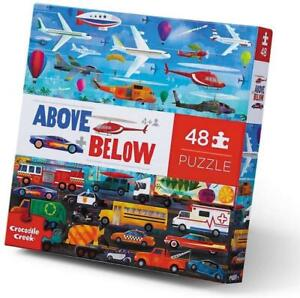 NEW Crocodile Creek Above & Below Puzzle 48pc - Things That Go - Vehicles