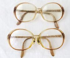 lot pair of vintage rodenstock sylvia eyeglasses frames plastic oval womens 135
