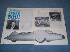 1960 David Cambell LSR Streamliner Bluebird Proteus CN7 Vintage Info Article
