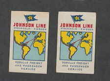 Ancienne étiquette Allumettes  Suède  BN965 Johnson Line