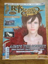 REVUE MAGAZINE ** ROLE PLAYING GAME n°38 ** JEUX VIDEOS RPG FINAL FANTASY AGNI
