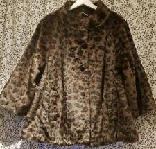 Vintage 1990's Faux Fur Swing Coat sz 16 Goth Glam Burlesque Manics Rockabilly