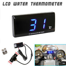 Blue LED ATV Motorcycle LCD Thermo Water Temperature Gauge 22mm Sensor Connector