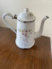 Ancienne petite CAFETIERE EMAILLEE  Blanche