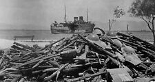 WWII photo Rifles and helmets of a division of the Australian army world war/12q