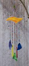 Handmade Handcrafted Stained Glass Millefiori Bead Wind Chime Suncatcher