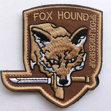 METAL GEAR SOLID FOXHOUND FOX SPECIAL FORCES EMBROIDERED COSPLAY HOOK LOOP PATCH