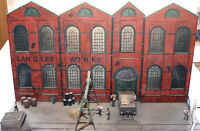 Brick factory warehouse V17set UNPAINTED OO Scale Langley Models Kit 1/76