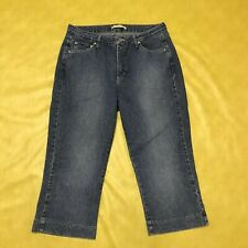 Riders Women's Instantly Slims You Stretch Denim Capri Cropped Jeans Size 14M