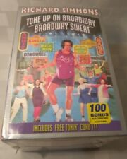 New Sealed Richard Simmons VHS 2 Tapes Tone Up On Broadway Sweat Free Tonin Cord
