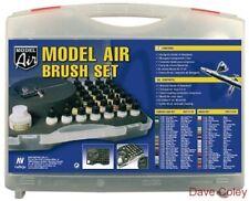 Conjunto De Aire AV Vallejo Modelo 71173 29 Colores Militar + Harder & steenbeck aerógrafo