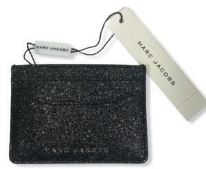Marc Jacobs Minitaure Glitter Card Case [Black] NWT