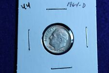 1964 D Roosevelt Dime Circulated Condition Nice Luster 44