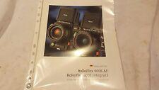 Broschüre Prospekt Werbeflyer Rollei Rolleiflex 6008AF Sammler rar Deutsch
