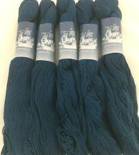 5 Plymouth Yarns CLEO DK Skeins #16 Mosaic Blue 100% Mercerized Pima Cotton Lot