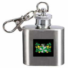 Lampet Family Crest Surname Coat Of Arms Cigarette  Hip Flask Kerying Engraved