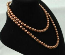 8-9mm Natural 35inch Coffees Akoya Pearl Necklace JN1056