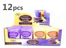 12x Flameless LED Tea Light Candle Flickering Tealight Lavender Vanilla Real Wax