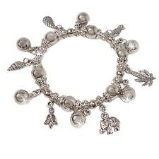 Bettelarmband Armband Silber plattiert dehnbar Charms Schmuck Modeschmuck A1516