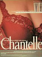 PUBLICITÉ DE PRESSE 1996 LORSQUE CHANTELLE OFFRE CLARINS - SOUTIEN-GORGE