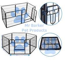 6pc puppy play pen dog whelping box cage kitten crate rabbit run guinea pig pen