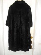 Vintage 1950s-60s  Best & Co Fifth Ave NY Black Velvet Lined Dress Coat EUC!!!