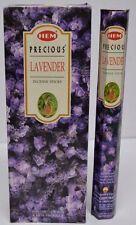 HEM PRECIOUS LAVENDER Incense Sticks 6 TUBES X 20 sticks = 120 STICKS