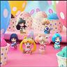 6 teile / satz Sailor Moon Figur Statue Q wangen Anime Figur  Modell Spielzeug