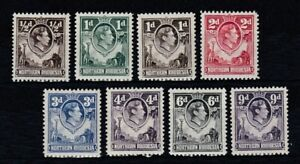 set of 8 mint GVI stamps from Northern Rhodesia. 1938