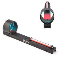Red Fiber Optics Dot Scope Sight Holographic Sight Fits Shotgun Rib Rail Hunting