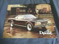 1978 Dodge Diplomat Color Brochure Catalog Prospekt