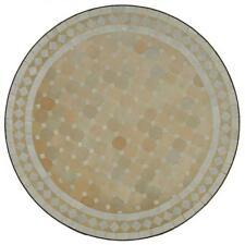 Mosaiktisch Gartentisch Esstisch Balkontisch Garten Möbel 60 cm Weiss Terrasse