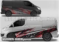 Ford Transit Custom Rally 008 grunge mud splatter graphics stickers decals vinyl