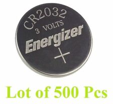 Lot of 500 PC ENERGIZER CR2032 WATCH BATTERIES 3V LITHIUM CR 2032 DL2032 BR2032