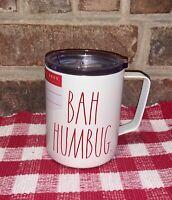 """NEW Rae Dunn """"BAH HUMBUG"""" Insulated Coffee Mug Christmas"""