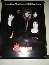 "Saxon - Original Promo Poster / Destiny - Group / Exc.+ new cond. / 18x24"""