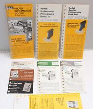 Kodak Handbook Book List 1 2 3 LL-16 L-17 L-16 A1-5 1965-70 AssortedVINTAGE F32V