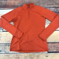 Uniqlo Womens 1/4 Zip Pullover Sweatshirt Size Small Orange A104