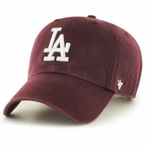 47 Brand Adjustable Cap - CLEAN UP LA Dodgers maroon