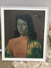 Iconic 1960's Retro Vintage Original Un Glazed Miss Wong Tretchikoff