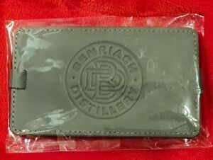 Collectors Benriach Whisky Distillery Grey Leather Luggage Tag BNEW