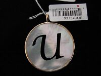 "NEW IPPOLITA 18K GOLD & MOTHER OF PEARL LARGE ""U"" INITIAL CHARM - ON SALE NWT"