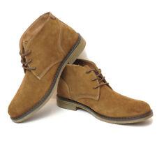 Nunn Bush Mens 8.5 Chukka Boot Camel Suede Brown Plain Toe Lancaster Chukka