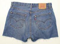 Levi's 521 Blue Hot Pants Vintage Denim Shorts High Waisted W36 UK16 (32022)