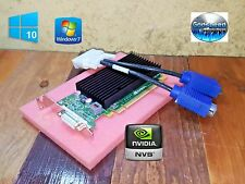 Windows 10 Dell OptiPlex 360 760 960 NVIDIA Slim SFF Dual VGA Monitor Video Card