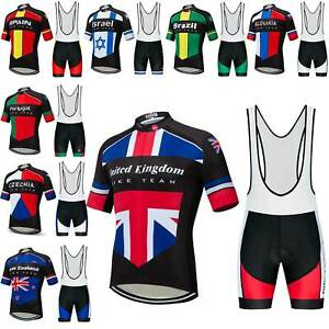 2021 Countries Team Cycling Clothing Men's Cycle Jersey and Bib Shorts Set S-5XL