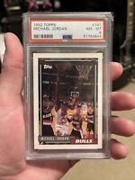 1992-93 Topps #141 Michael Jordan Chicago Bulls HOF PSA 8